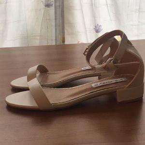 Brand New Never Worn White Block Heels